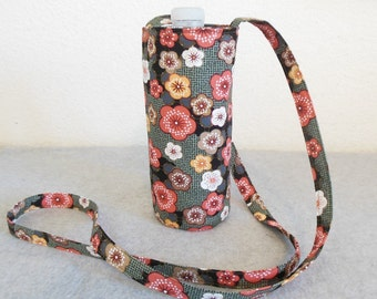 Insulated Water Bottle Carrier - Pretty Posies