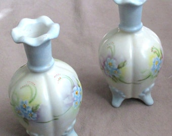 pair of hand painted Perfume Bottles