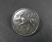 Pewter metal buttons, traditional motives from Norway 2pcs