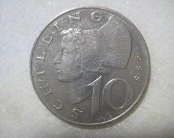 1988 Austria, 10 Schilling Coin