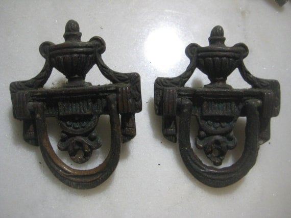 Antique Cabinet Or Drawer Pulls 1920 S Drop Ring By