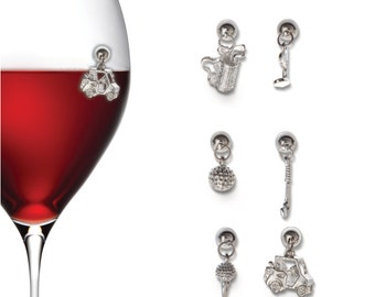 Golf Magnetic Wine Glass Charms