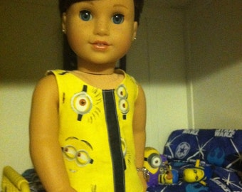 Minion tank top for American Girl dolls and other 18inch dolls
