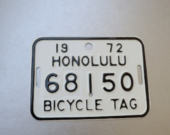 Vintage Bicycle License Plate - Part of a big collection available