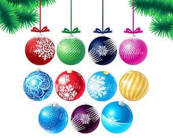 Christmas clipart Christmas clip art Christmas ball clipart Holiday clipart Digital Christmas ornaments digital christmas decorations