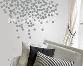 Nursery Wall Decal. Dots Decal. Geometric Pattern Decal. Silver dots decal. Wall Decal Nursery. Baby decal. Wall Pattern