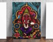 Ganesh Elephant Hindu Art Ganesha Print by Catherine Dolch