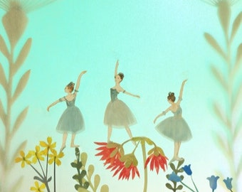 Three Little Dancers - photographic print by Elly MacKay