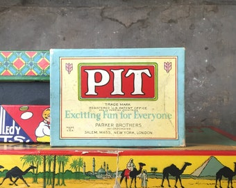 Vintage Card Game Pit Bull and Bear Edition Parker Brothers Early 1919 Copyright Toy Hobbies Collectible