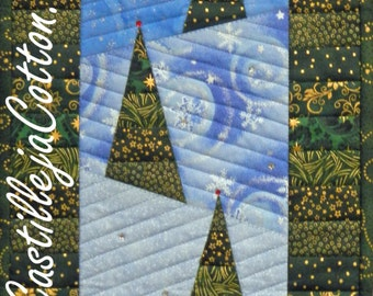 Winter Bliss Quilt ePattern, 4688-1, wall quilt pattern, stripped pieced borders, winter wall hanging