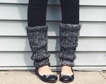 Chunky Knit Legwarmers / Ribbed Legwarmers / Hand Knit