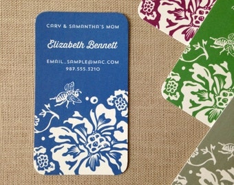Floral Mommy Cards, Business Cards or Calling Cards