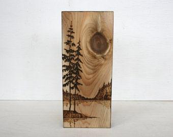 Lakeside  - Wood Art - Wood burning