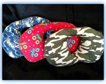 Travel Pillow - Car Seat Neck Support Car - Infant to Adult Sizes - Camos & Trucks