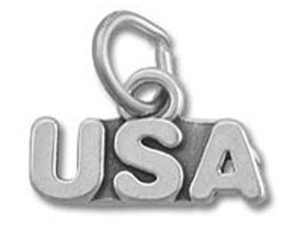 USA Charm - Sterling Silver