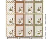 Monthly Planner Stickers - Country Winter Full Box Sampler 2 Planner Labels - Fits Erin Condren Life Planner - MP4883503149501