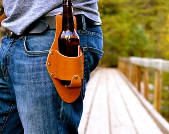 Leather Beer Holster Medium Brown, The Plano