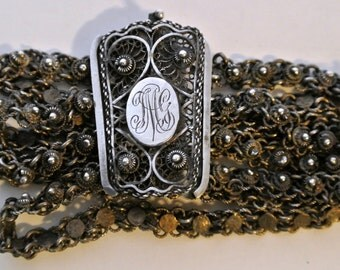Antique Cannetille Filigree Bracelet
