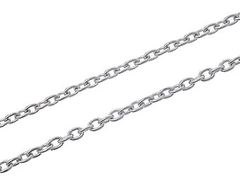 BULK Stainless Steel Chain - 6.5 Feet Link Cable 4mm x 3mm - Bulk Chain - FD261