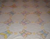 Butterfly Vintage Cutter Quilt - RESERVED for Trixie