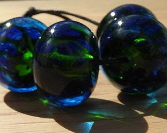 Ocean - lampwork bead set