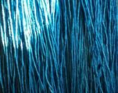 Kosher Four techelet / tekhelet blue color linen cords. Wet spun made with lishma.