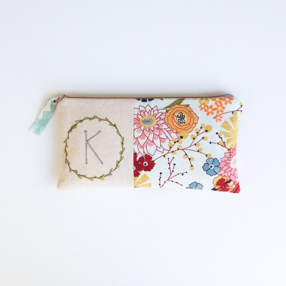 Personalized Thank You Gift Monogram Clutch Personalized
