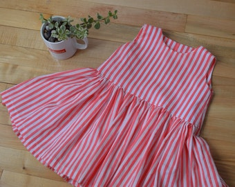 Stripe party dress for a toddler
