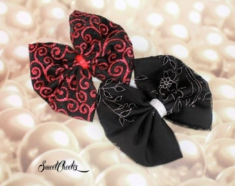 Fabric Bow Hair Clip ~ Rockabilly & Pinup Accessory