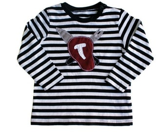 T-bone Steak Applique Shirt Size 9-12 months Chef
