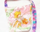 Strawberry Shortcake vintage upcycled cute purse BY Felices Happy Designs