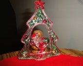 Beautiful Diorama Pair of Ornaments