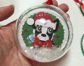 Boston Terrier ornament or decoration / Christmas tag or Dog Ornament
