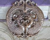Carved phoenix double Jade Pendant,Double Side Face Carved phoenix jade Pendant Gemstone ,Unique Carved Jade Pendant,jasper pendant