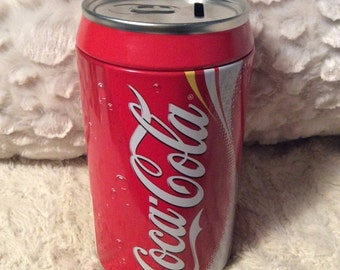 20% SALE Oversized Coca Cola Tin Bank Like New Gift Coke Can Americana Advertising