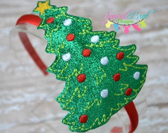 Christmas Tree Headband, Girls or Toddler Girls, Perfect for the Holidays and Christmas,  Made to Order