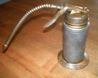 Vintage Mid Century Metal Pistol Pump - Metal Pump Oiler