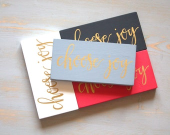 Gray and Gold Choose Joy Painted Wood Sign, Today I Choose Joy, Gold Metallic Lettering Sign, Encouraging Sign, Find Your Joy