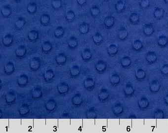 Midnight blue dimple - Cuddle minky