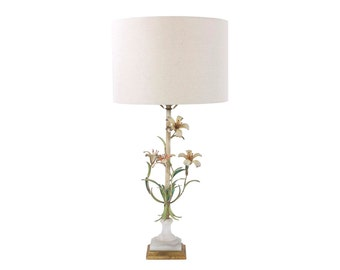 Italian Toleware Lamp // Hollywood Regency // Palm Beach Regency Lighting // Working Condition