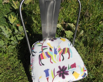 Made to fit Otomi Chair Pad - 2 inch foam -  Otomi Print (Made To Order) - 22 L X 22 W or within (2 inch thick) - Spoonflower Fabric