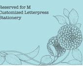 Reserved for M Customized Letterpress Printed Stationery