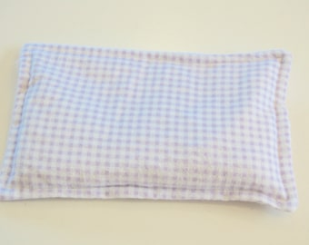 Rice Heating Pad / Ice Pack, 5 X 8 Purple Check