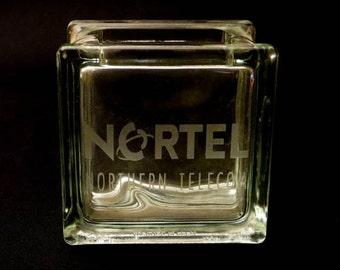 Northern Telecom - Nortel Promotional Glass Block