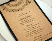 Music Wedding Menu, Music Note Dinner Menu, DEPOSIT