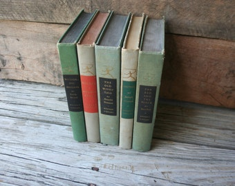 Set of Five Vintage Classic Books Published by the Modern Library - Instant Collection - Classic Literature - Book Collection