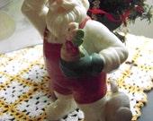 Vintage Collectible Lenox Santa Claus Gardener Porcelain Figurine
