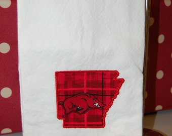 University of Arkansas Tea Towel with Razorback