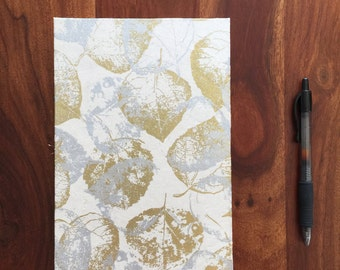 Gold & Silver Leaves Journal