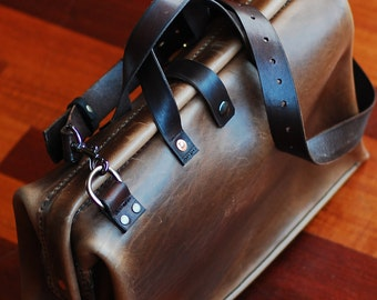 Rare UniqueLeather briefcase, Leather Duffle bag, Leather DSLR bag, Leather Overnight Bag, laptop bag, Handbag, Pizza bag